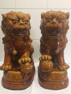 陶瓷獅子一對