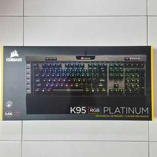 (In Stock)Corsair K95 RGB PLATINUM - Cherry MX Speed - Gunmetal