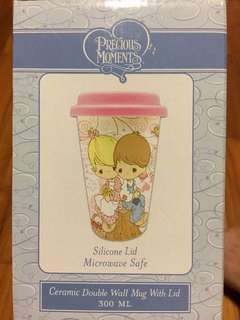 Precious Moments Ceramic Double Wall Mug with Lid