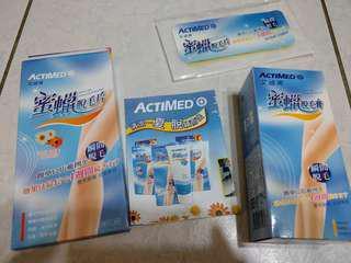 艾迪美ACTIMED 蜜蠟脫毛膏155g+脫毛片一對入(兩片)