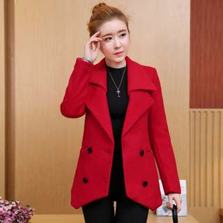 Red Autumn Winter Thick Jacket Warm Trench Parka Coat Overcoat Outwear