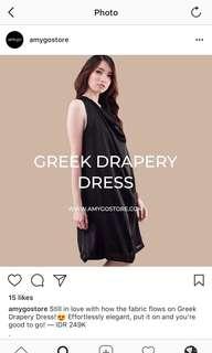 Preloved - Black Drapery Dress