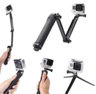 3 Way Monopod for GoPro, Sjcam, Eken