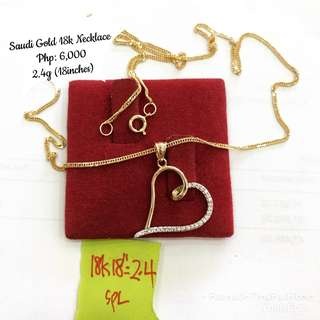 Saudi Gold 18k Necklace