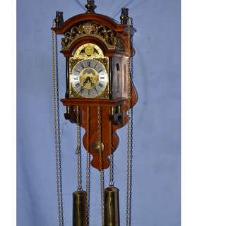 ANTIQUE VINTAGE DUTCH WUBA SALLANDER MECHANICAL PENDULUM WALL CLOCK