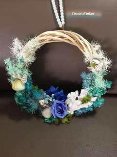 Gardening Wedding Handmade Preserved Flower Wreath