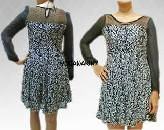 Free ONGKIR! Dress Vintage Hitam Transparan
