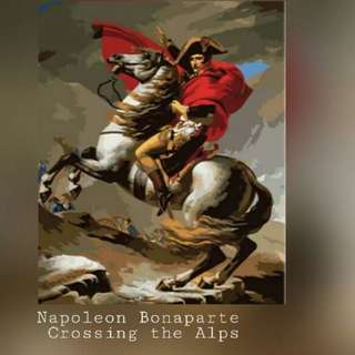 Napoleon Bonaparte Crossing The Alps Painting