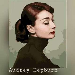 Audrey Hepburn Painting