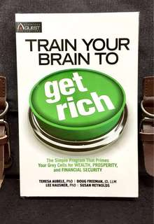 《Good Condition Preloved Paperback + Preparing Your Mindset To Get Rich》Teresa Aubele - TRAIN YOUR BRAIN TO GET RICH : The Simple Program That Primes Your Gray Cells for Wealth, Prosperity, and Financial Security