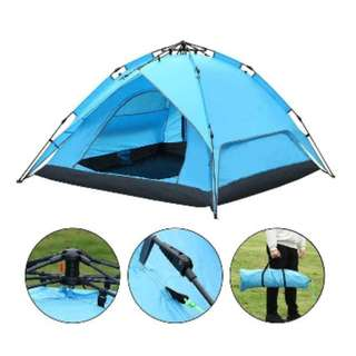 #4 Waterproof Camping Tent (Blue)