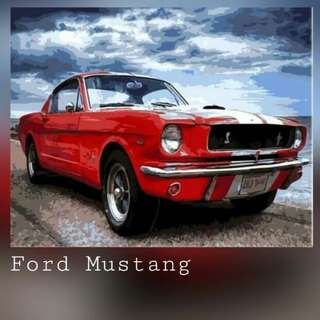 Ford Mustang Painting