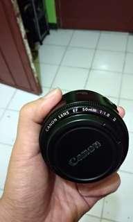 Lensa canon fix 50mm 1.8 II