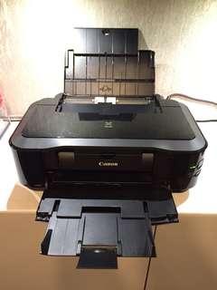 淨機 90%新 Canon Printer iP4970 佳能 打印機 iP4970 (ink 型號 725,726)$100