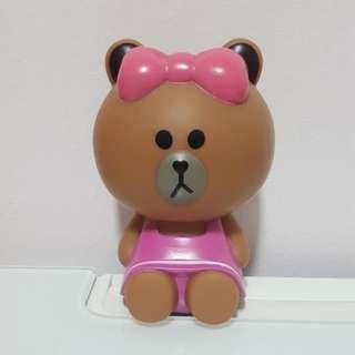 Line Friends Choco Brown Bear Sister Mini Coin Piggy Bank