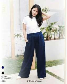 Basic long cullotes pants celana kulot panjang wanita JP148