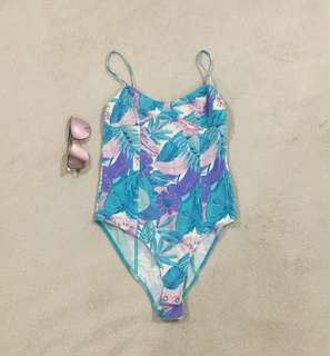 F21 Tropical Bodysuit-S