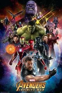 Marvel Avengers Infinity Wars Movie Poster