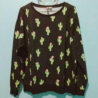 H&M cactus pullover
