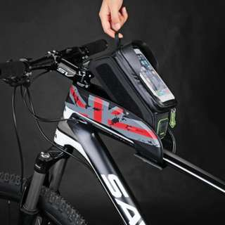 Bicycle Front Tube Frame Bag Waterproof Touch Screen Bike Phone Pouch Bike Accessories 6 inch
