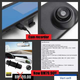 Car video recorder mirror