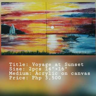Voyage At Sunset Painting