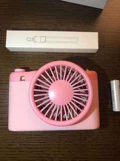 Sty! epie PaPa Travelling Fan + power bank  粉紅色 旅行風扇 加 尿袋 (4000mAh)