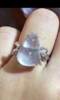 玻璃種翡翠葫蘆戒指