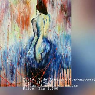Nude Abstract Contemporary Painting