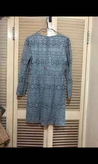 全新From Today 韓國女裝灰藍色連身裙 (Free Size, Made in Korea) #mayflashsale