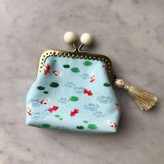 🚚 Candy kisslock purse (square frame). Handmade.