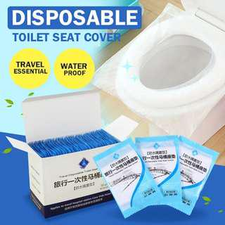 🚚 100% Water Proof Non Flushable Toilet Seat Cover( 50pcs in a pack) free singpost normal mail