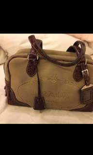 Prada - 麻布袋身 真皮手挽 Hand Bag