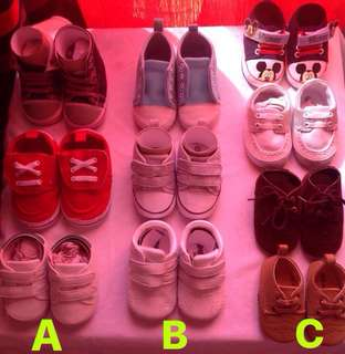 Baby Boy Shoes 👶 (Lot/Pack A, B, C)