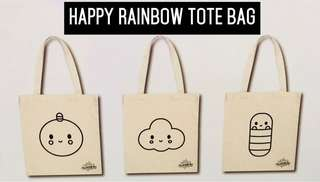 Happy Rainbow 🌈 Canvas Tote Bag