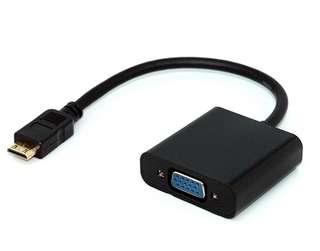 🔆保固六個月🔆mini HDMI TO VGA音源孔 免電源轉換線(10公分) (type-C mini)