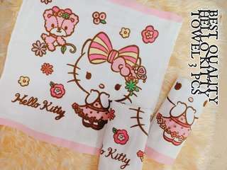 Hello Kitty Towel (set of 3)