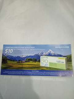 Voucher to get 5pairs Biotrure Oneday for Presbyopia+$10 cash voucher (total worth $60 include free eye check)