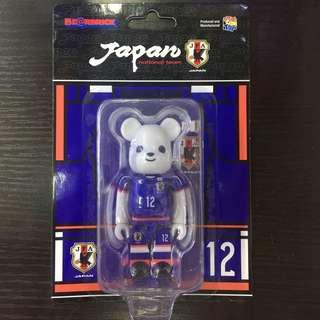 日本 Family Mart 限定 Japan National Team Football Association 日本隊 Bearbrick be@rbrick