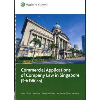 🚚 Commercial Applications of Company Law 5th Edition