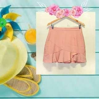 Cream Pastel Korean Skirt