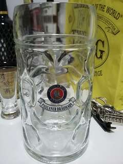 Paulaner 1 Liter Beer Mug made in Austria