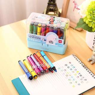 🚚 Pencil Box with cute cartoon stamps