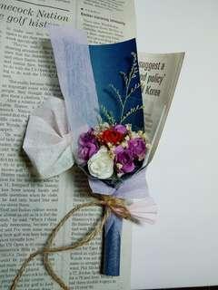🚚 精緻乾燥紙玫瑰💐紫曜貝殼魚尾款♥情人節,生日禮物,交換禮物,畢業,七夕,紀念日禮物(已售出