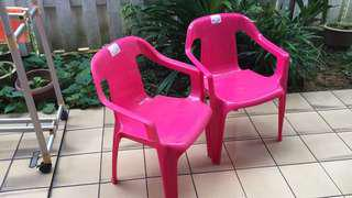 Children's chair hot pink