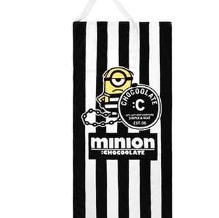全新Minions X Choocolate 浴巾(可變毛巾袋)