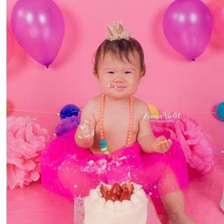 CAKE SMASH Photoshoot - Louisa Violet Photography