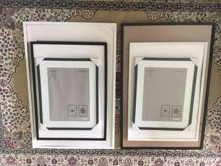 IKEA Ribba Picture Frames, Black & white, various sizes
