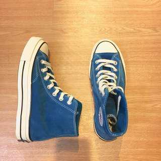 Converse 1970 孔雀藍 藍綠 麂皮