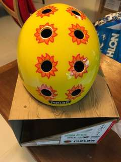 bike helmet for girls/size Xxs-S/sunflower model/used 3 times only